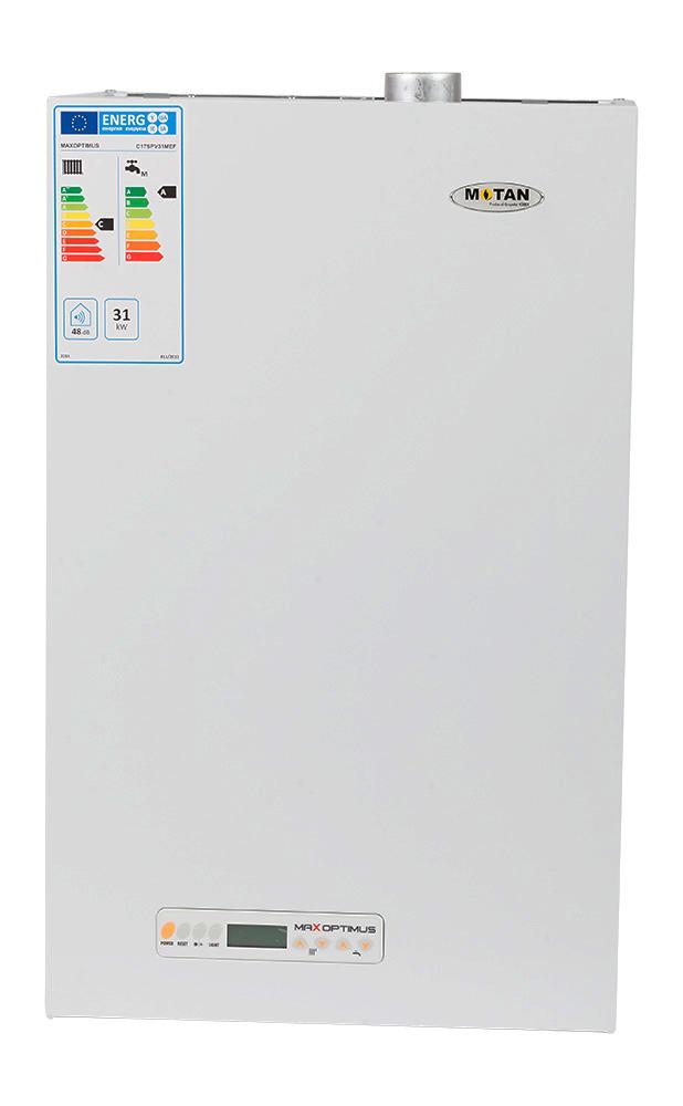 Centrala termica pe gaz conventionala MOTAN MAX OPTIMUS C17SPV31MEF-ERP, 31 kw, kit evacuare inclus. Poza 10062