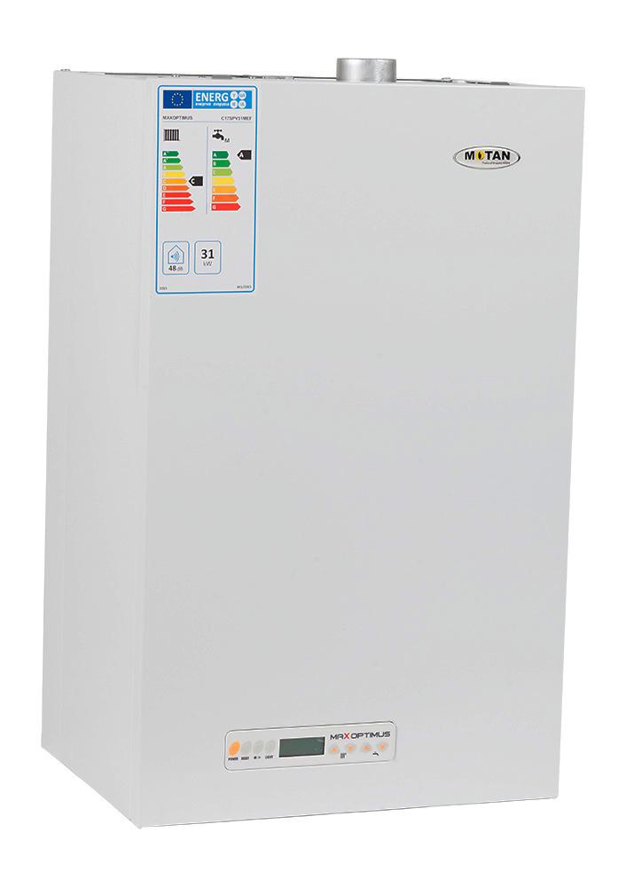 Centrala termica pe gaz conventionala MOTAN MAX OPTIMUS C17SPV31MEF-ERP, 31 kw, kit evacuare inclus. Poza 10064