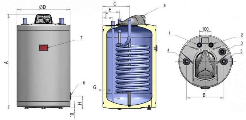 Poza Boiler indirect cu serpentina ATLAS FST 120