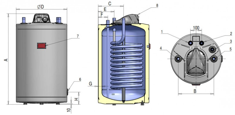 Poza Boiler indirect cu serpentina ATLAS FST 200