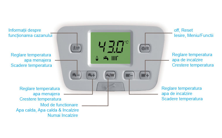 Poza Centrala termica pe gaz in condensatie BAXI DUO-TEC+ 40 GA, kit evacuare inclus