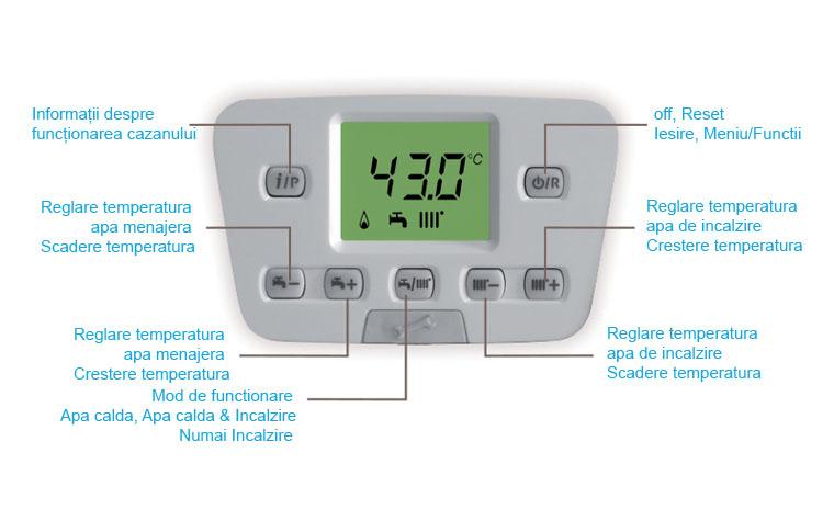 Poza Centrala termica pe gaz in condensatie BAXI DUO-TEC+ 1.24 GA, doar incalzire, kit evacuare inclus