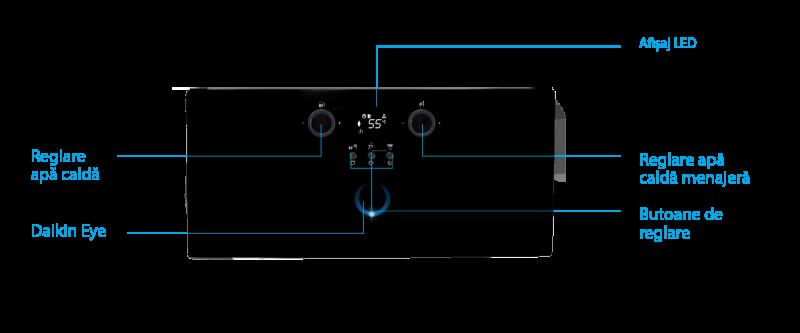 Poza Centrala termica pe gaz in condensatie DAIKIN D2CND 24, kit evacuare inclus