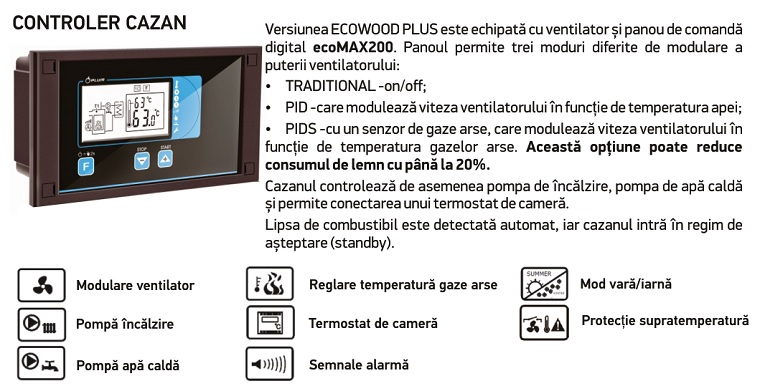 Poza Centrala termica pe combustibil solid THERMOSTAHL ECOWOOD PLUS 30 kW