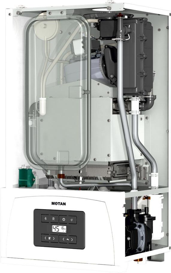 Poza Centrala termica in condensatie MOTAN CONDENS 050 24, kit evacuare inclus