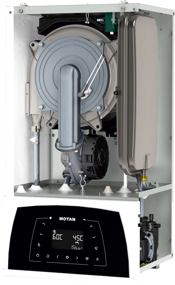 Poza Centrala termica in condensatie MOTAN CONDENS PLUS 100 25, kit evacuare inclus