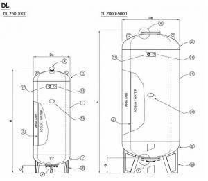 Vas de hidrofor ELBI DL 750L VERTICAL