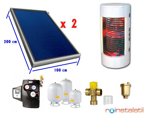 Sistem panou solar plan 3-4 pers
