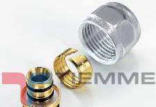 Adaptor pentru tub PEXAL 16x2-1/2 CROM