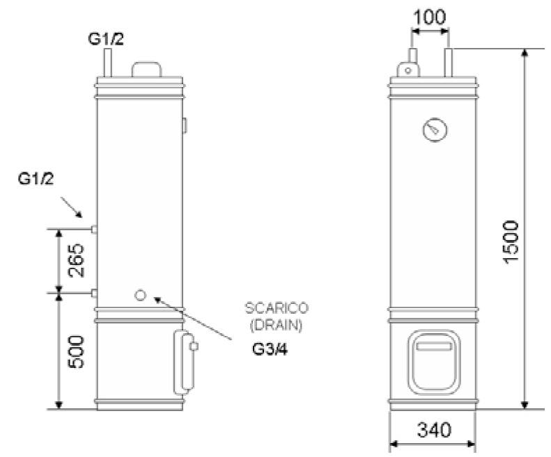 Boiler cu lemn/electric OMEGA 80 L