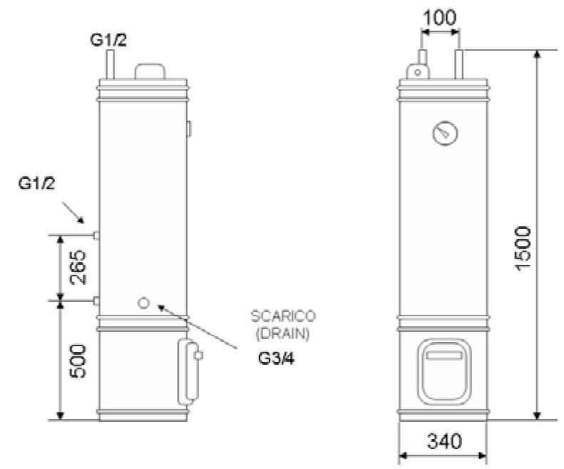Boiler cu lemn/termoelectric OMEGA 80 L