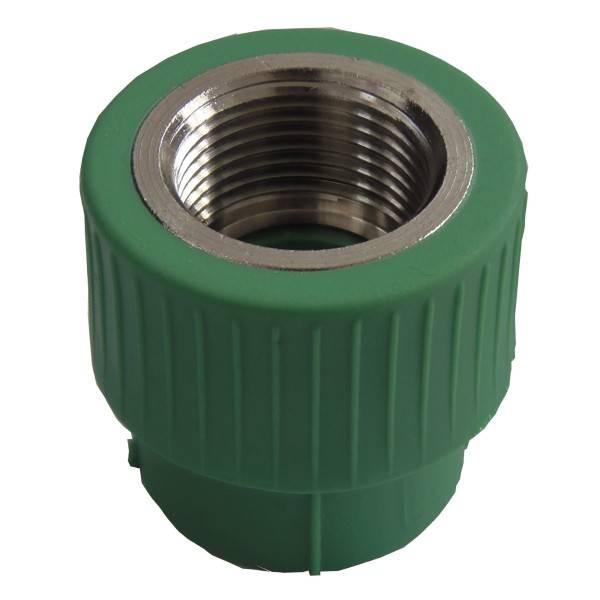 Racord PPR verde 20x1/2 FI