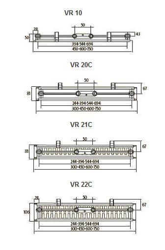 Calorifer din otel vertical PURMO VR22/1950X450