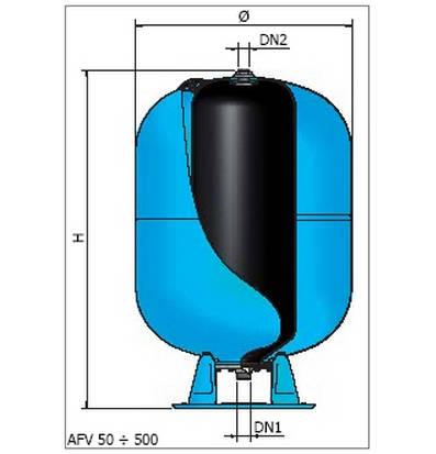 Vas de hidrofor ELBI AFV