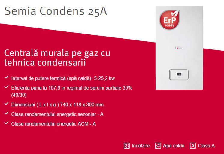 Centrala termica in condensatie SAUNIER DUVAL Semia Condens 25A