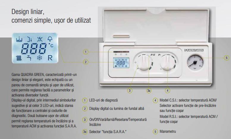 Poza Centrala termica pe gaz in condensatie BERETTA QUADRA GREEN 25 RSI ErP, doar incalzire, kit evacuare inclus