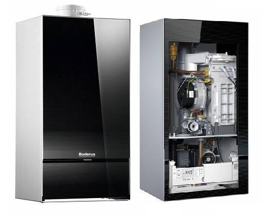 Poza Centrala termica pe gaz in condensare BUDERUS LOGAMAX PLUS GB 172IK 30kW negru, kit evacuare inclus
