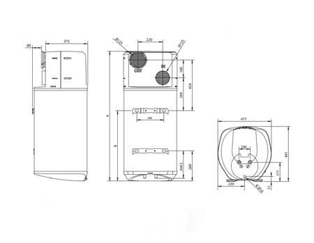 Boiler cu pompa de caldura ARISTON NUOS PRIMO 100