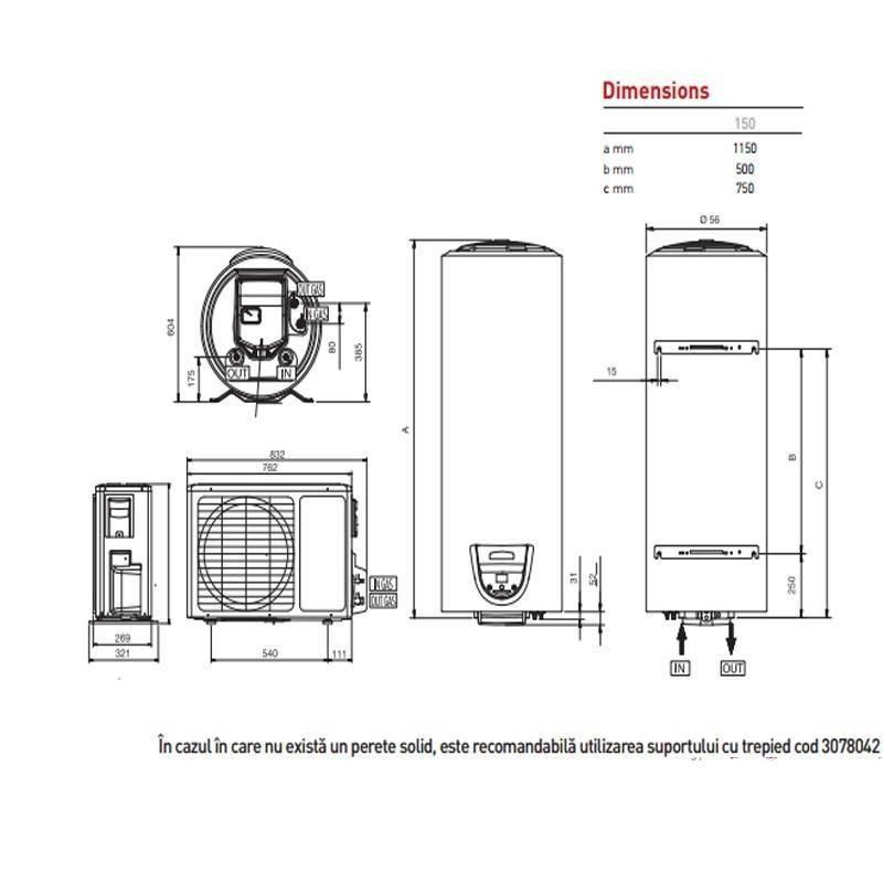 Boiler cu pompa de caldura ARISTON NUOS EVO SPLIT 200