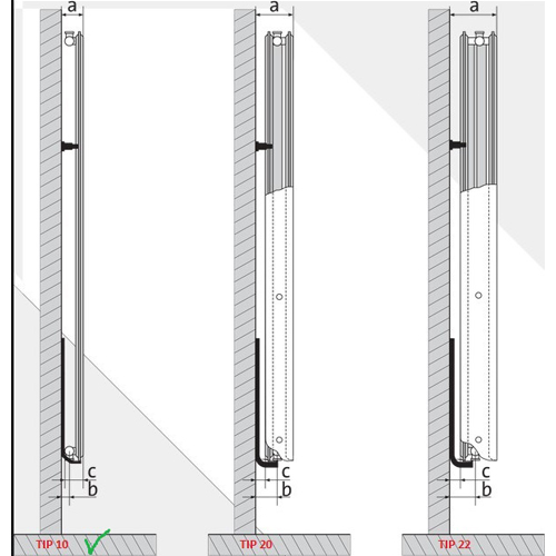 Calorifer din otel vertical VOGEL&NOOT 10/600X1800. Poza 9231