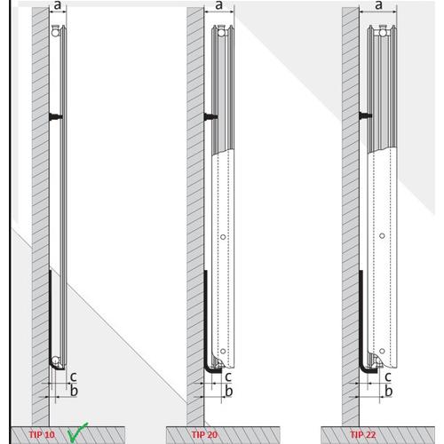 Calorifer din otel vertical VOGEL&NOOT 10/500X2600. Poza 9245