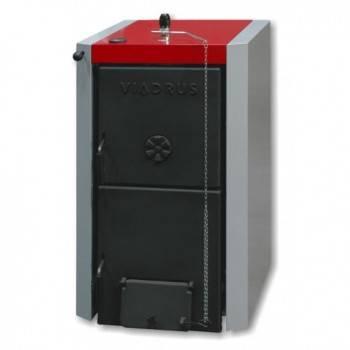 Pachet Centrala termica pe lemne din fonta stil cazan VIADRUS U22-D6 30 kw, Boiler termoelectric ELDOM 120 L, accesorii
