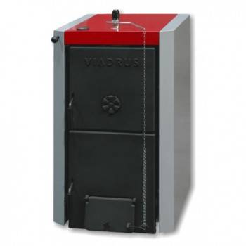 Pachet Centrala termica pe lemne din fonta stil cazan VIADRUS U22-D8 40 kw, Boiler termoelectric ELDOM 120 L, accesorii