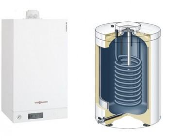 Centrala termica pe gaz in condensatie VIESSMANN Vitodens 100-W 26 Kw cu boiler monovalent de 120 litri