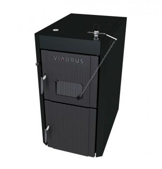 Pachet Centrala termica pe lemne din fonta cu gazeificare VIADRUS U22 ECONOMY 34 kw, Boiler termoelectric Ariston PRO R THERMO 120 VTS 1.8K, accesorii