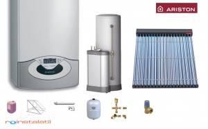 Poza Pachet ARISTON Genus Premium System 30 + 2 panouri solare tuburi vidate + boiler 300 l
