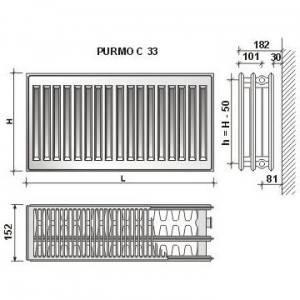 Poza Calorifer din otel PURMO C 33/600X500