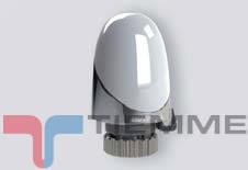 Cap termostatic alb/cromat TIEMME