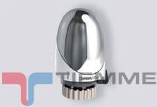 Cap termostatic cromat/alb TIEMME