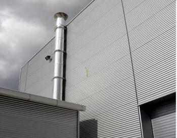 Poza Cos de fum inox D 150 H 4m perete dublu izolat complet echipat sudat pe generator