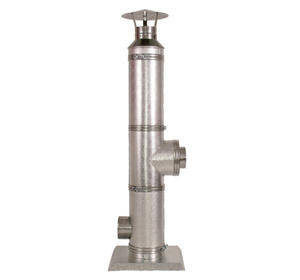 Cos de fum inox D=180, H=5m perete dublu, izolat, complet echipat - sudat pe generator