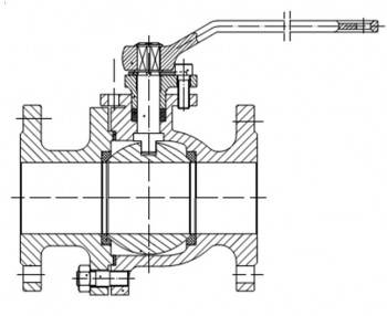 Robinet cu sfera cu flansa VAESKE  PN16 / DN100