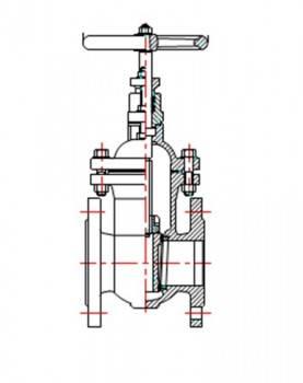 Robinet sertar pana corp plat VAESKE PN16 DN65