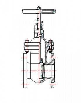 Robinet sertar pana corp plat VAESKE PN16 DN125