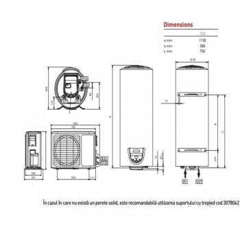 Poza Boiler cu pompa de caldura ARISTON NUOS EVO SPLIT 150
