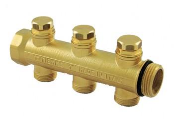 Colector FLOOR 1 cu robineti cu memorie mecanica 3/4 - 4 CAI