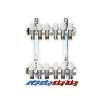 Set colector MAXIMA 1 cu robineti 1/2 interaxa 36 mm - 6 CAI