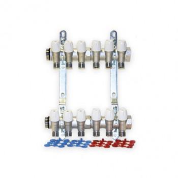 Set colector MAXIMA 1 cu robineti 1/2 interaxa 36 mm - 7 CAI